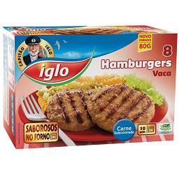 8 hamburguers s/ glúten vaca