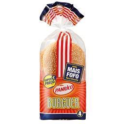 4 pães p/ hamburguer