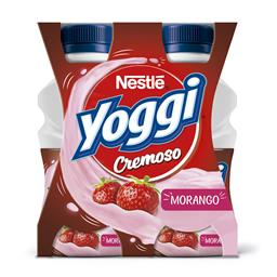 Iogurte líquido yoggi cremoso morango