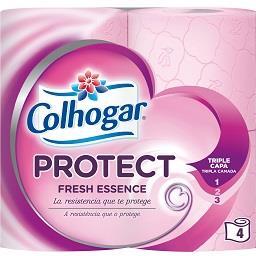 Papel Higiénico Protect Rosa 3 Folhas