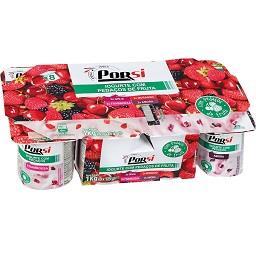Iogurte pedaços frutos vermelhos