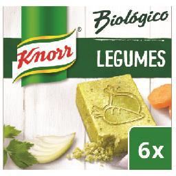 Knorr caldo biológico legumes 6c - 60gr