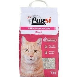 Areia para gatos mineral perfumada