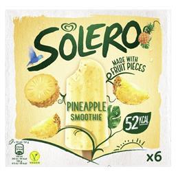 Gelado solero smoothie ananás