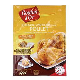 Papelote para frango com coco e caril