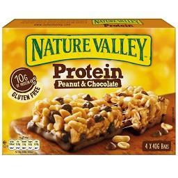 Barras de amendoim e chocolate