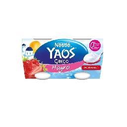 Iogurte Yaos Grego Magro de Morango