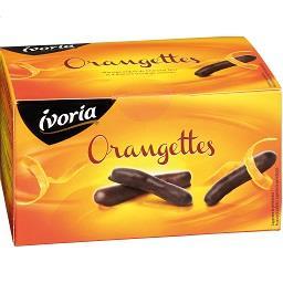 Sticks cobertos de chocolate com laranja