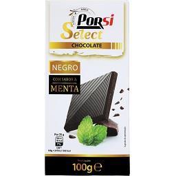 Tablete de chocolate, negro/menta