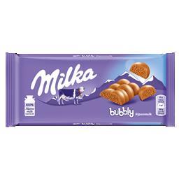 Tablete de chocolate leite bubbly