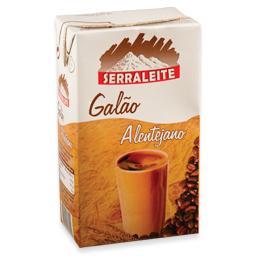 Leite uht, com café, galão alentejano