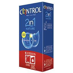 6 Preservativos + Gel  Nature |2 em 1