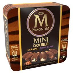 Gelado magnum mini double chocolate e caramelo
