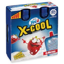 Iogurte yoco x-cool de morango