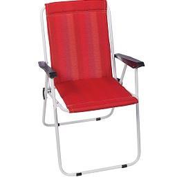 Cadeira de Cretone Vermelha