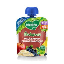 Bledina frutapura maçã banana frutos do bosque 90g