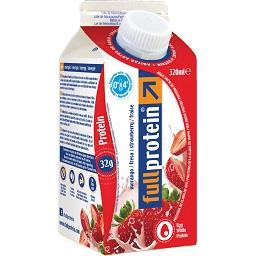 Bebida de clara de ovo proteína com morango
