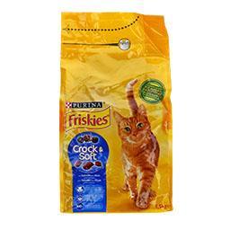 Ração para gato adulto crunchy & tender com salmão