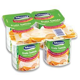 Iogurte de polpa de banana/laranja/bolacha