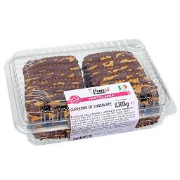 Supremas de chocolate, biscoitos
