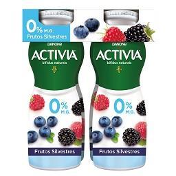 Iogurte activia líquido 0% frutos silvestres