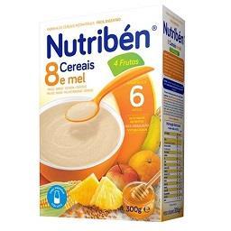 Farinha láctea 8 cereais, mel, 4 frutas