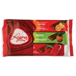 Snack de chocolate, com aroma a fruta