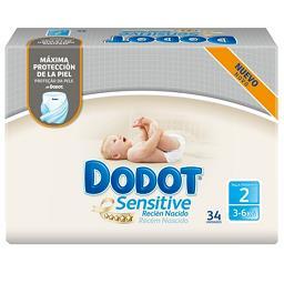 Fraldas Recém Nascido Sensitive | Tamanho 2 - 3-6 kg
