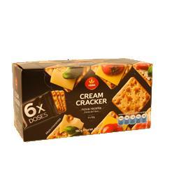 Bolachas cream cracker doses individuais