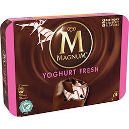 Gelado magnum iogurte framboesa