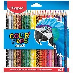 Conjunto de lápis de cor, Peps animais