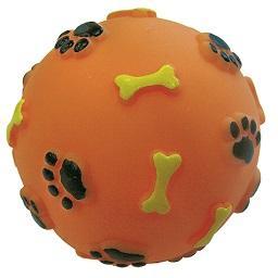 Bola vinyl colorida, para cão