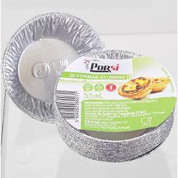 Forma de alumínio para pastéis, 20 unidades