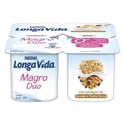 Iogurte 0% pedaços muesli e cereal