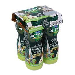 Activia liquido sementes e cereais: kiwi pera c/ lin...