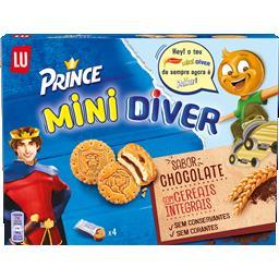 Bolachas mini diver recheadas com chocolate