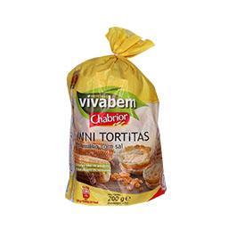 Mini tortitas milho c/ sal