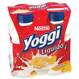 Iogurte líquido yoggi banana