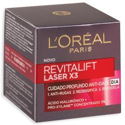Creme de rosto de dia revitalift, laser