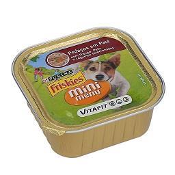 Comida húmida para cão mini menu paté frango e cenou...
