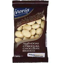 Amêndoa C/ Cobertura de Chocolate Branco