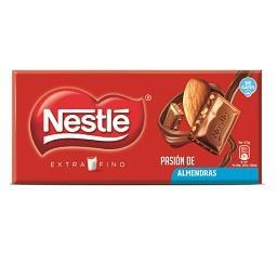 Tablete de chocolate leite/amêndoa