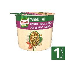 Knorr veggie pot lentilhas e arroz
