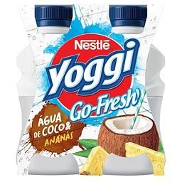 Yoggi Go-Fresh Água de Coco e Ananás