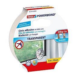 Fita bi-adesiva powerbond transparente - 5 m x 19 mm