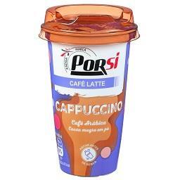 Cappuccino café arábica cacau magro em pó