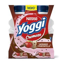Iogurte líquido yoggi cremoso morango e stracciatell...