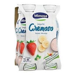 Iogurte líquido banana e morango