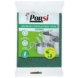Esponja para cozinha de fibra verde