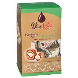 Bombons de chocolate de leite com avelã